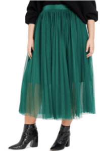 fashion trends for fall gauzy tulle skirt