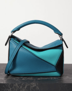 fall fashion trends blue leather medium size bag